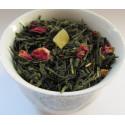 Tasse Thé Papaye, Kiwi, Boutons de rose -Thé vert TROUBADOUR - Compagnie Anglaise des Thés