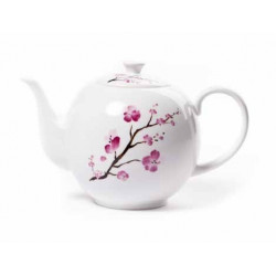 Tetera de porcelana cereza