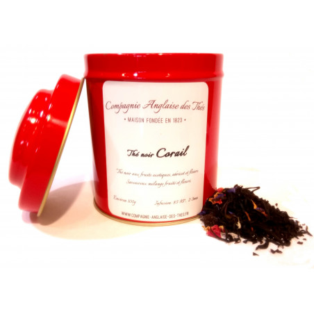 Boîte de thé noir CORAIL