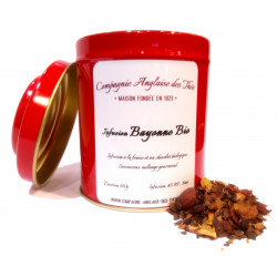 Infusion CHOCOLAT, FRAISE - Boîte d'Infusion BAYONNE BIO
