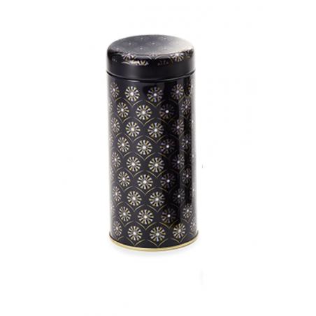Boîte cylindrique Mandala Noir