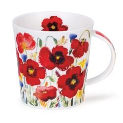 Mug Dunoon Fleurs coquelicots - Compagnie Anglaise des Thés