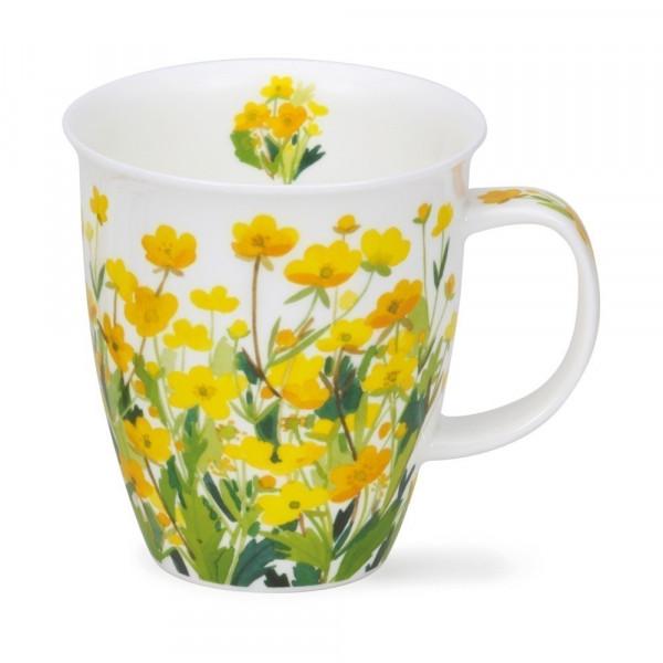 Mug Dunoon Champ fleurs jaunes - Compagnie Anglaise des Thés