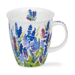 Mug Dunoon champ fleurs bleues