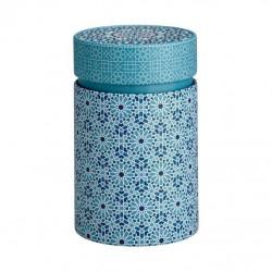 Boîte Cylindrique Andalouse bleu - Compagnie Anglaise des Thés