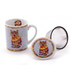 Tisanière Chat porcelaine - Compagnie Anglaise des Thés