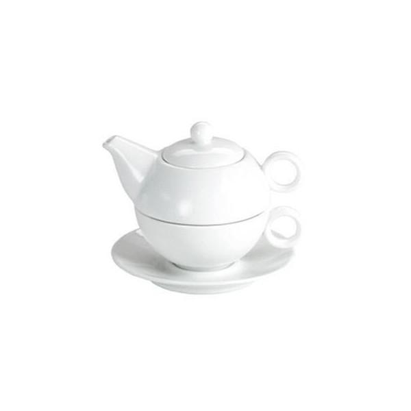 Théière Solitaire Blanche - Compagnie Anglaise des Thés