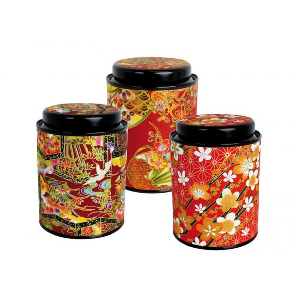Boîte Japonaise Cylindrique Rouge - Compagnie Anglaise des Thés