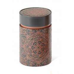 Boîte Cylindrique Rosace grise - Compagnie Anglaise des Thés